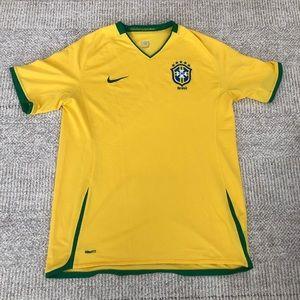Nike Brazil Soccer Jersey Home 2008 2010 Large